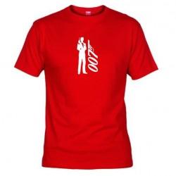 Pánské tričko 007 James Bond červené