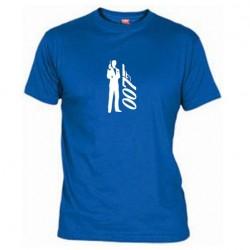 Pánské tričko 007 James Bond modré