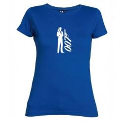 Dámské tričko 007 James Bond modré