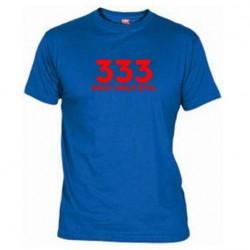 Pánské tričko 333  Only half Evil modré