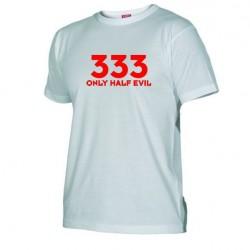 Pánské tričko 333  Only half Evil bílé
