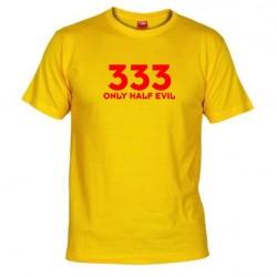 Pánské tričko 333  Only half Evil žluté