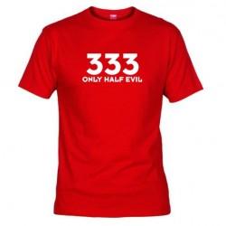 Pánské tričko 333  Only half Evil červené