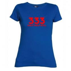 Dámské tričko 333 Only half Evil modré