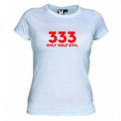 Dámské tričko 333 Only half Evil bílé