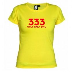 Dámské tričko 333 Only half Evil žluté