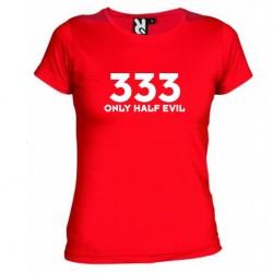 Dámské tričko 333 Only half Evil červené