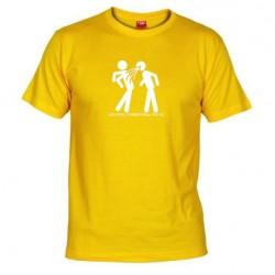 Pánské tričko ALKOHOL CONNECTING PEOPLE žluté