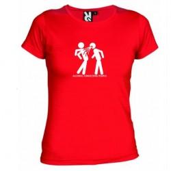 Dámské tričko ALKOHOL CONNECTING PEOPLE červené