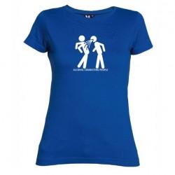 Dámské tričko ALKOHOL CONNECTING PEOPLE modré