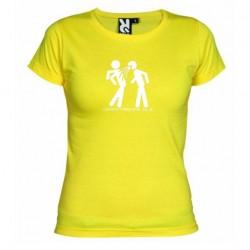 Dámské tričko ALKOHOL CONNECTING PEOPLE žluté
