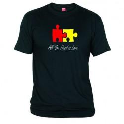 Pánské tričko All you need is love černé
