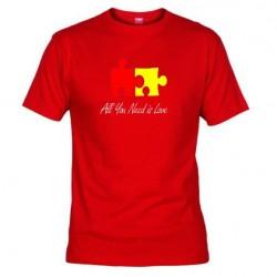 Pánské tričko All you need is love červené