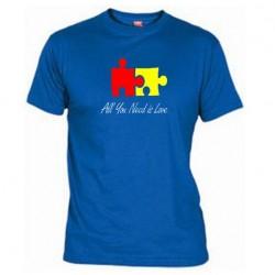 Pánské tričko All you need is love modré