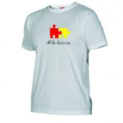 Pánské tričko All you need is love bílé