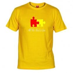 Pánské tričko All you need is love žluté