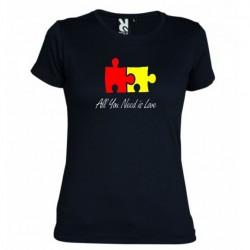 Dámské tričko All you need is love černé
