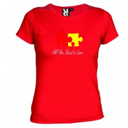Dámské tričko All you need is love červené