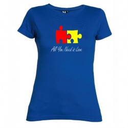 Dámské tričko All you need is love modré