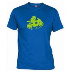 Pánské tričko Android moto modré