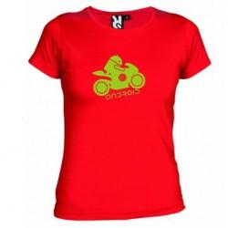 Dámské tričko Android moto červené