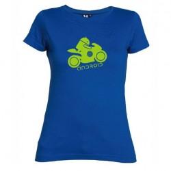 Dámské tričko Android moto modré