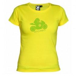 Dámské tričko Android moto žluté