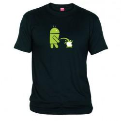 Pánské tričko Android vs Apple černé