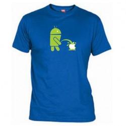Pánské tričko Android vs Apple modré