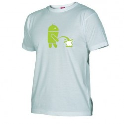 Pánské tričko Android vs Apple bílé