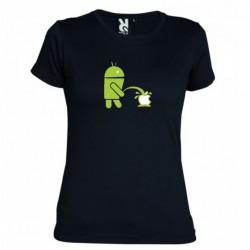 Dámské tričko Android vs Apple černé