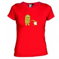 Dámské tričko Android vs Apple červené