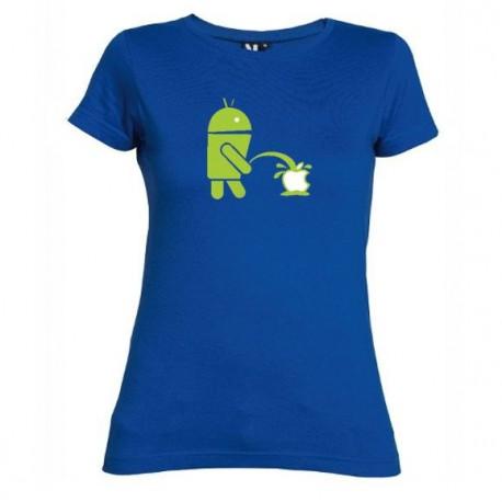Dámské tričko Android vs Apple modré