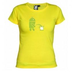 Dámské tričko Android vs Apple žluté