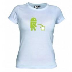 Dámské tričko Android vs Apple bílé