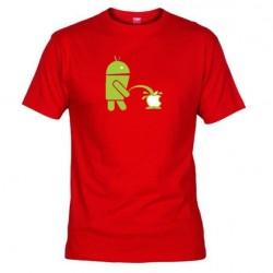 Pánské tričko Android vs Apple červené