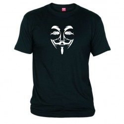 Pánské tričko Anonymous černé