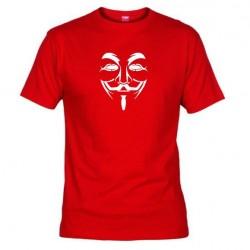 Pánské tričko Anonymous červené