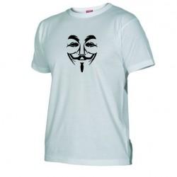 Pánské tričko Anonymous bílé