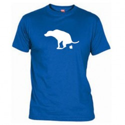Pánské tričko Apple is dog shit modré