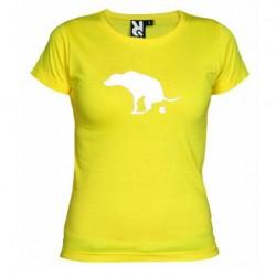 Dámské tričko Apple is dog shit žluté