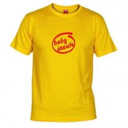 Pánské tričko Baby inside žluté