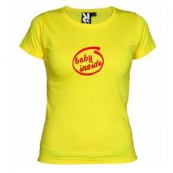 Dámské tričko Baby inside žluté