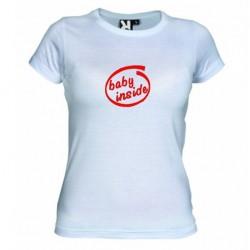 Dámské tričko Baby inside bílé