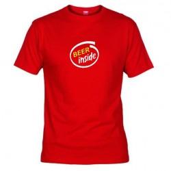 Pánské tričko Beer inside červené