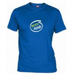 Pánské tričko Beer inside modré