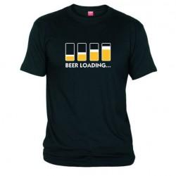 Pánské tričko Beer loading černé