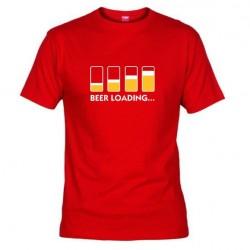 Pánské tričko Beer loading červené