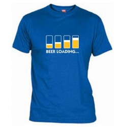 Pánské tričko Beer loading modré