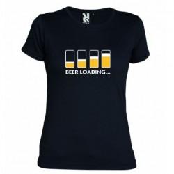 Dámské tričko Beer loading černé